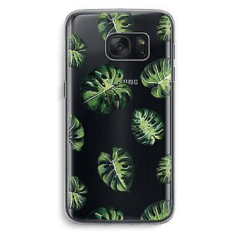 Samsung Galaxy S7 Transparent Case (Soft) - Tropical leaves