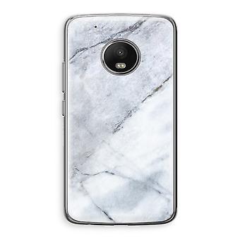 Motorola Moto G5 Transparent Case (Soft) - Marble white