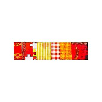 SALE -  5 Orange and Yellow Coordinated Decopatch Paper Sheets