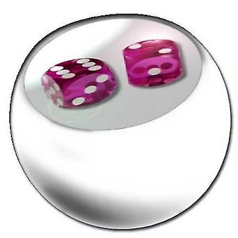 Piercing Replacement Ball White, Body Jewellery, Dices Pink | 1,6 x 5 and 6 mm
