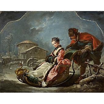 Winter, Francois Boucher, 50x40cm