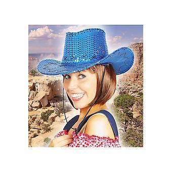 Hats  Cowboy hat glitter deluxe blue