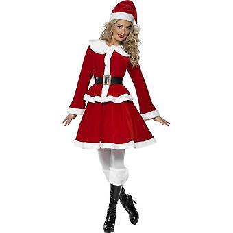 Miss Santa Costume  Muff, UK Dress 16-18