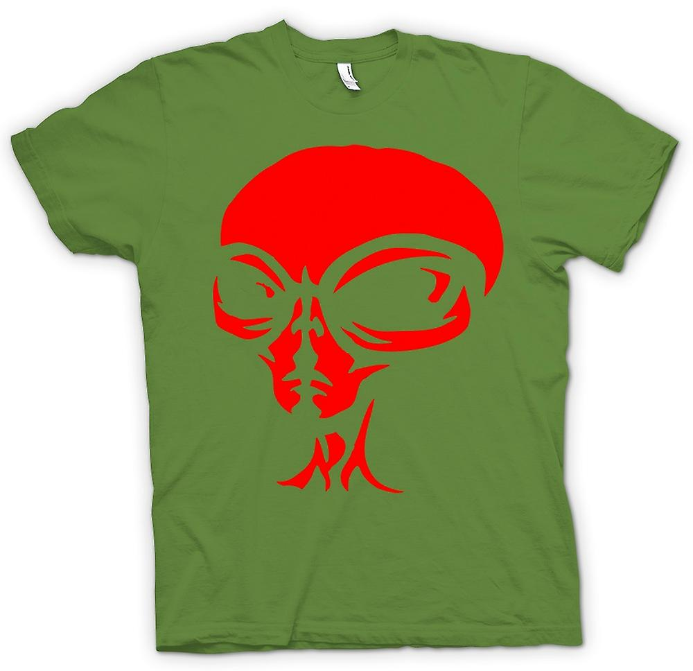 Herren T-Shirt - UFO - Alien Head