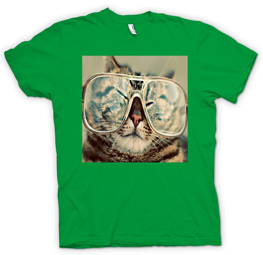 Mens T-shirt - Funny Cat With Glasses