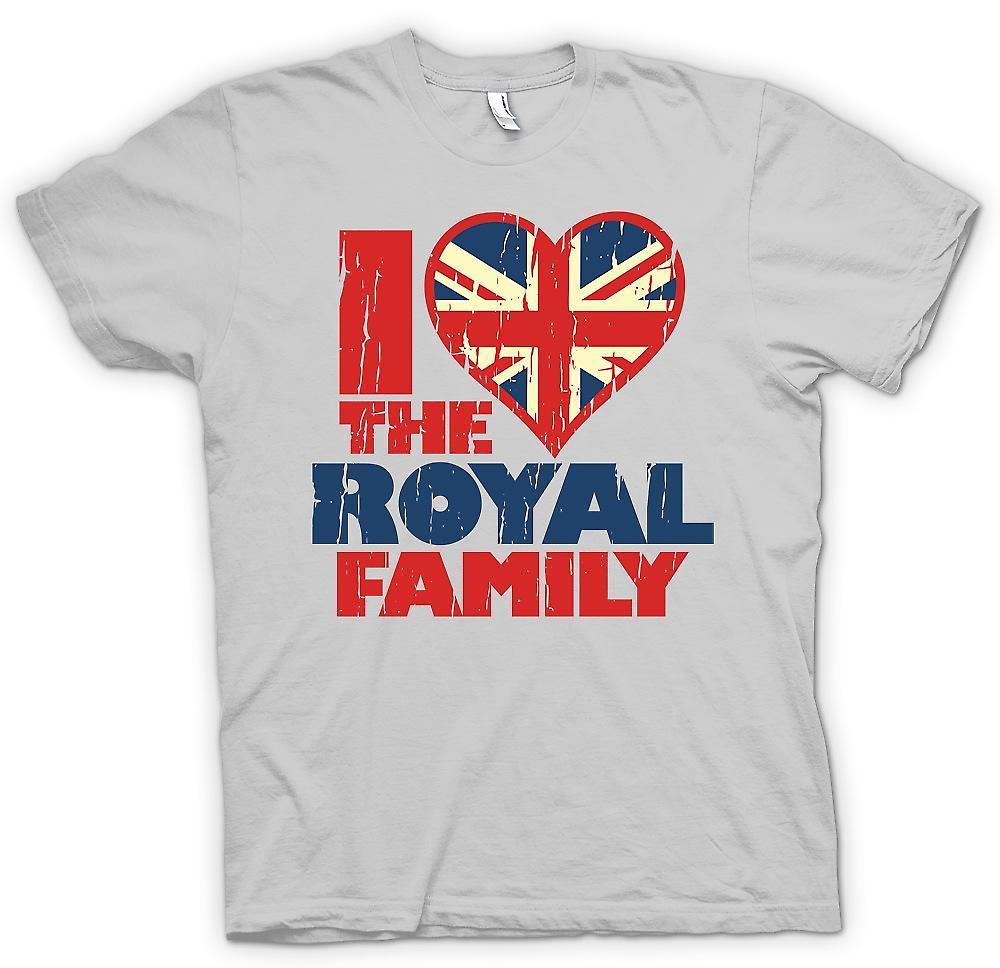 Herr T-shirt - jag älskar den kungliga familjen