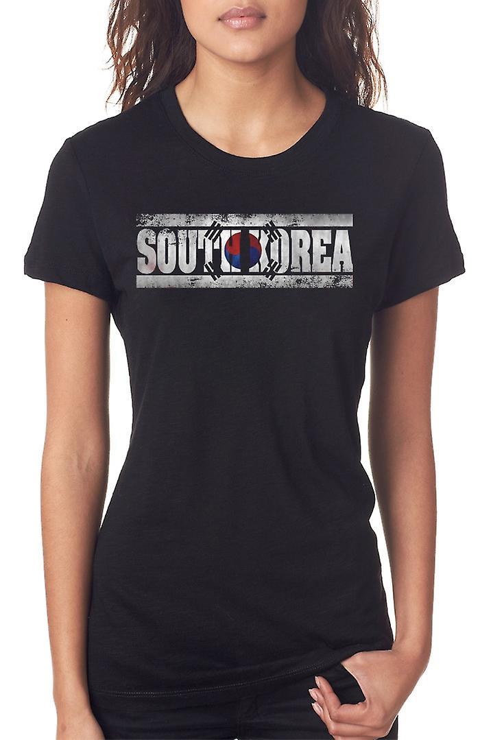 Bandera de Corea del sur - palabras las señoras T Shirt