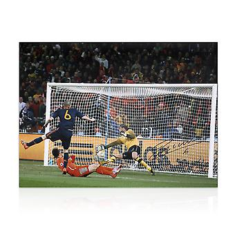 Andres Iniesta Signed Spain Photo: World Cup 2010 Winning Goal