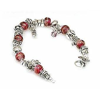 Toc Beadz Sterling Silver Plum Color Bead Bracelet