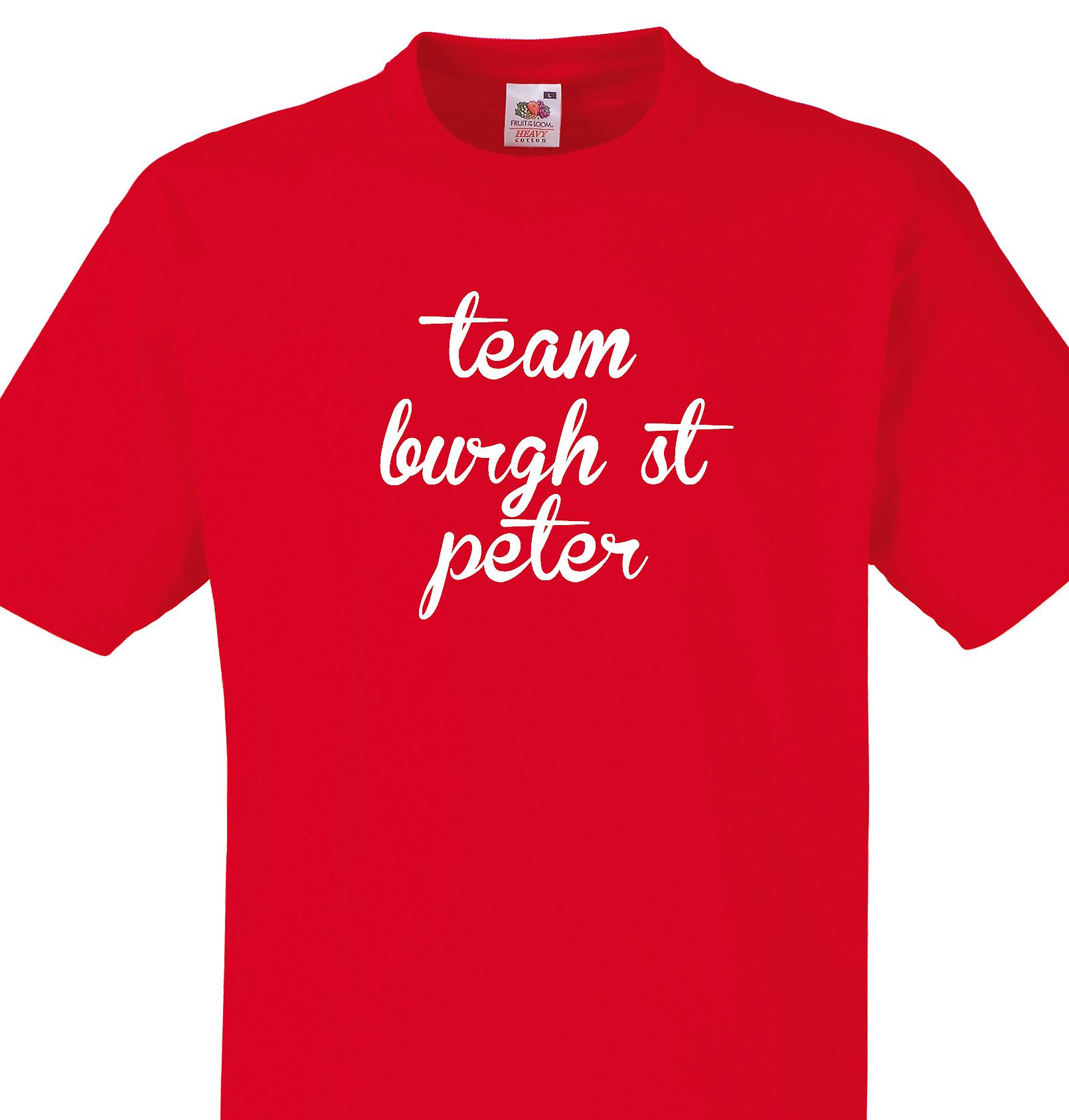 Team Burgh st peter Red T shirt