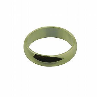 18ct Gold 6mm plain D shaped Wedding Ring Size Q