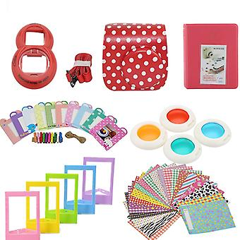 Accessory Pack for Fujifilm Instax Mini 8/9-Dotted Red
