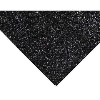 Black Lightly Glittered A4 Acrylic Craft Felt Sheet | Craft Felt Sheets & Rolls