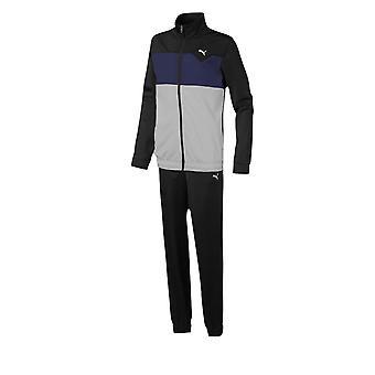 Puma Trikot Kinder Fitness Training Sport Trainingsanzug Set schwarz/grau