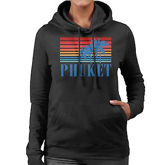 Phuket Retro 70-tal Sunset kvinnor 's Hooded Sweatshirt