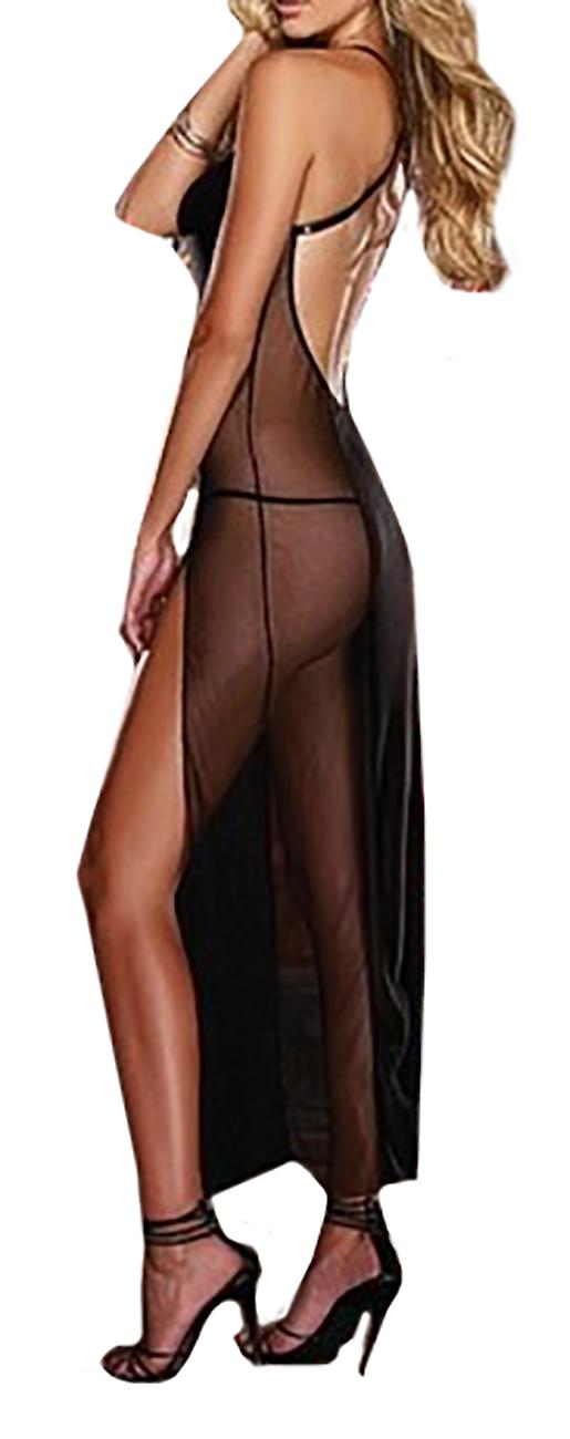 Waooh - Long nightie erotic semi transparent