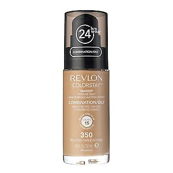 Revlon Colorstay Foundation for Combination/Oily Skin, #350 Rich Tan