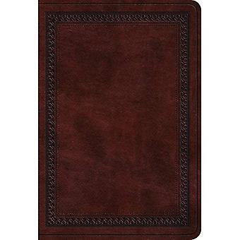 ESV Value Large Print Compact Bible (Trutone, Mahogany, Border Design)