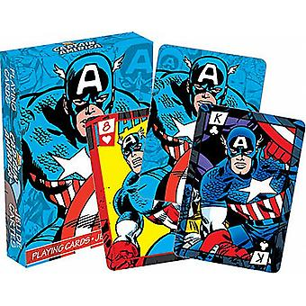 Captain America sett spillkort (nm 52278)