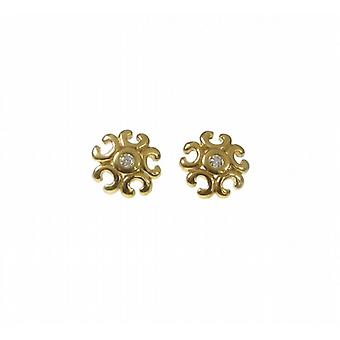 Cavendish French Gold Vermeil Pretty Filigree Earrings