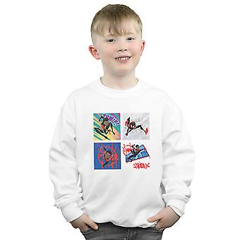 Marvel Boys Spider-Man Into The Spider-Verse Four Squares Sweatshirt