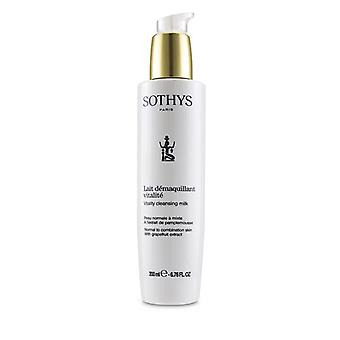 Sothys Vitality Cleansing Milk - For Normal to Combination Skin , With Grapefruit Extract 200ml/6.76oz