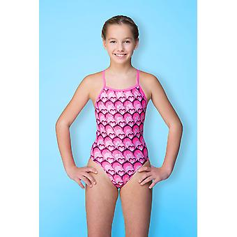 Maru Hearts Sparkle Aero Back Swimwear For Girls