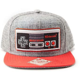 Nintendo Original Embroidered Retro NES Controller Unisex Snapback Baseball Cap - One Size - Grey/Red (SB08NONCT)