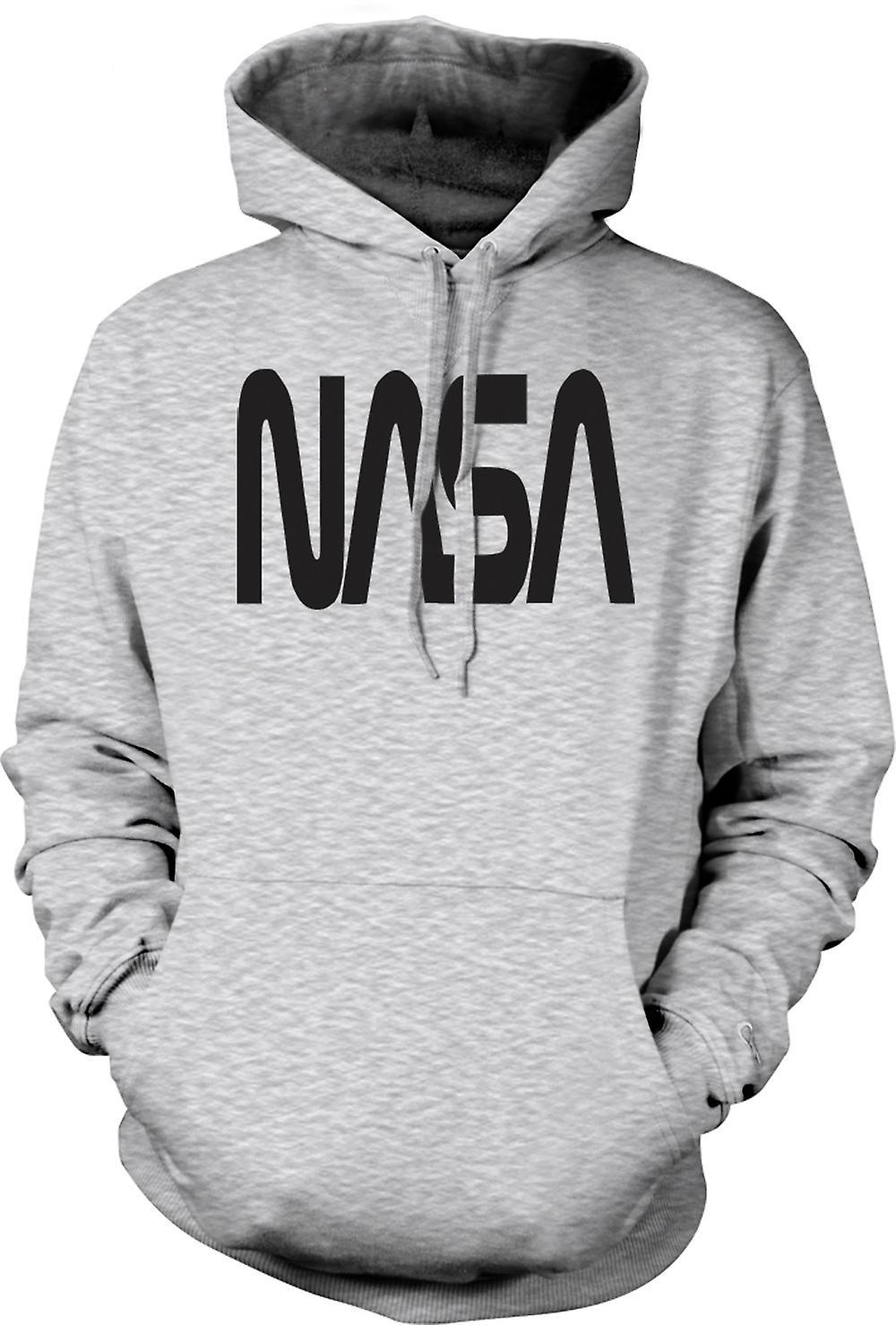 Mens Hoodie - NASA - logotypen utrymme