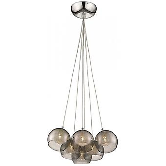 Decorative Luminaire In Chrome And Smoked Grey