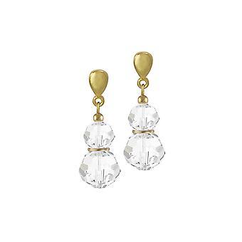 Ewige Sammlung Echo deutlich österreichischen Kristall Gold Ton Drop-Clip auf Ohrringe