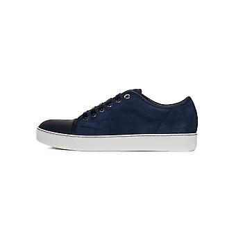 Lanvin Lanvin Navy Sliced Nubuck Toe Cap Sneakers