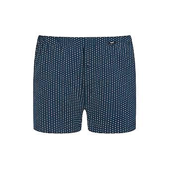 Mey Men 33522-668 Men's Point Yacht Blue Spotted Cotton Loose Boxer