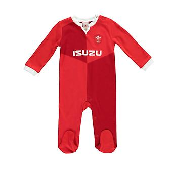 Wales WRU Rugby Baby Sleepsuit  | Red | 2019/20 Season