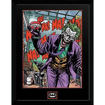 DC Comics Joker Zähne gerahmt Collector Print 40x30cm