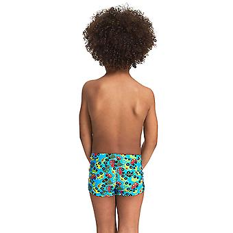 Zoggs Boys Automania Hip Racer Swim Shorts - Turquoise/Multi
