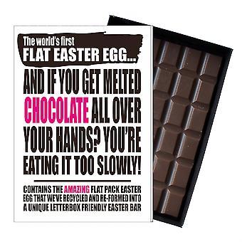 Funny Flat Easter Egg Chocolate Bar Greeting Card Gift Boyfriend Girlfriend UK EIYF131