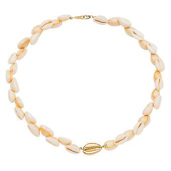Gemshine Maritim Nautic Necklace Kauri Shell 925 Silver High Quality Gold Plated