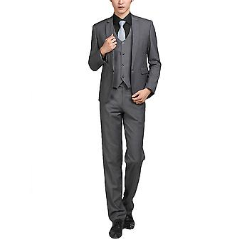 Alle Themen Men's 2-teilige Anzüge solid Grey Business Blazer & Pants
