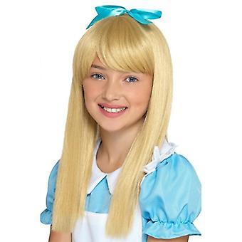 Blond długie włosy Peruki karnawałowe księżniczki Wonderland akcesoriów Księżniczka Wonderland wig