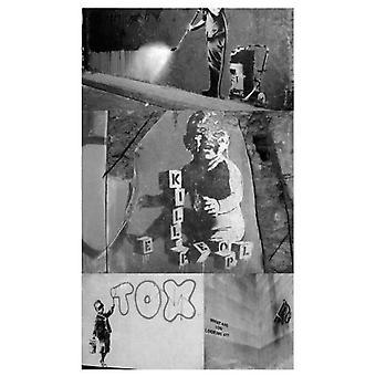 Artgeist tapet - Banksy - collage grå (dekoration, tapet)
