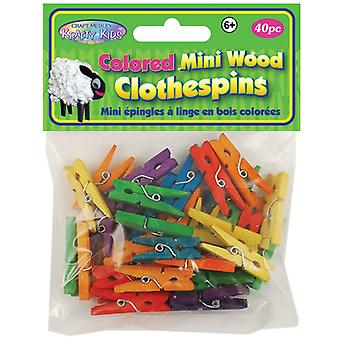 Colored Mini Clothespins 1 3 16