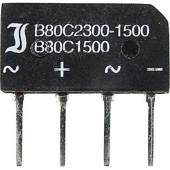 Diotec B 80 C 1500/1000 Silicon Bridge Rectifier 1.4/1.6A Nominal current (free-standing) 1.4 A/(chassis mounting) 1.6