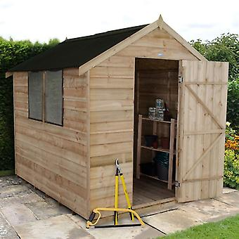 Forest Garden 6 x 8 Pressure Treated Overlap Apex Shed - Onduline Roof