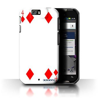 STUFF4 Case/Cover for Motorola IronRock/XT626/4 of Diamonds/Playing Cards