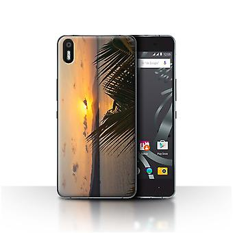 STUFF4 Case/Cover for BQ Aquaris X5/Palm Trees/Sunset Scenery