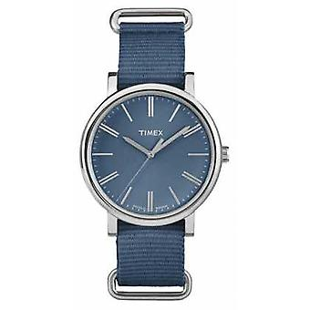 Timex Unisex Navy Dial Navy Fabric Strap TW2P88700 Watch