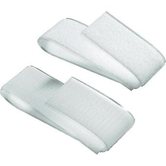 Hook-and-loop tape stick-on Hook and loop pad (L x W) 500 mm x 50 mm White Fastech 919-0000C 1 pair