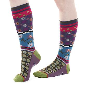 Roccoco women's crazy combed cotton crew socks | French design by Dub & Drino
