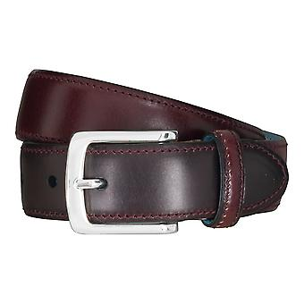 SAKLANI & FRIESE belts men's belts leather belt Bordeaux 5118